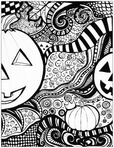 Coloriage de Halloween gratuit à colorier