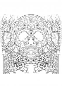 Crâne et bougie