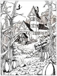 Dessin de Halloween gratuit à télécharger et colorier