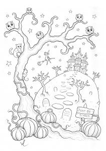 Coloriage de Halloween à télécharger