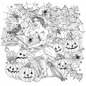 Image de Halloween à télécharger et colorier