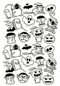 Coloriage de Halloween à telecharger gratuitement