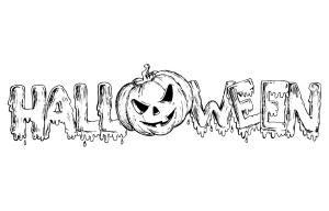 Coloriage halloween texte