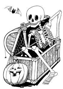 Squelette dans un coffre