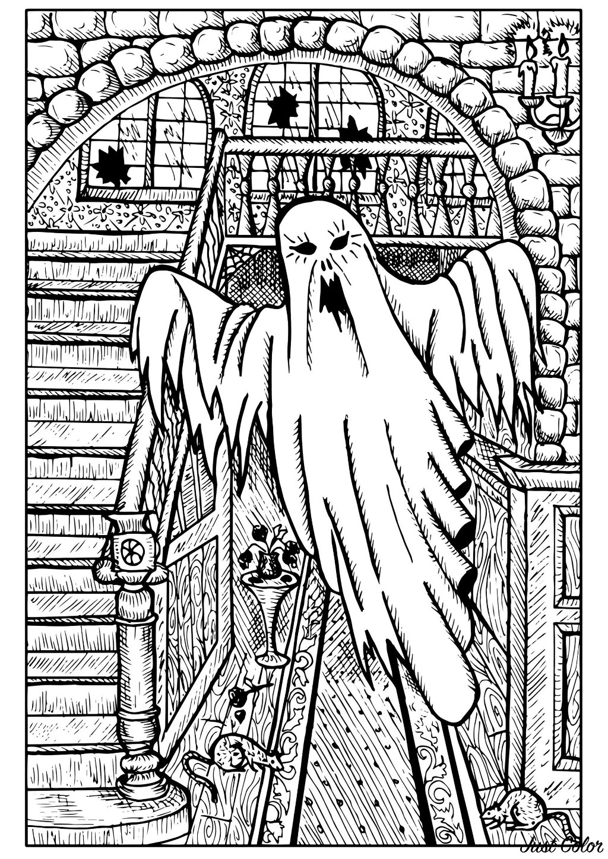 Fantome D Halloween Coloriage Halloween Coloriages Pour Enfants