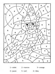 Coloriage magique hibou