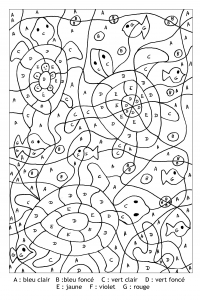 Coloriage magique lettres tortues