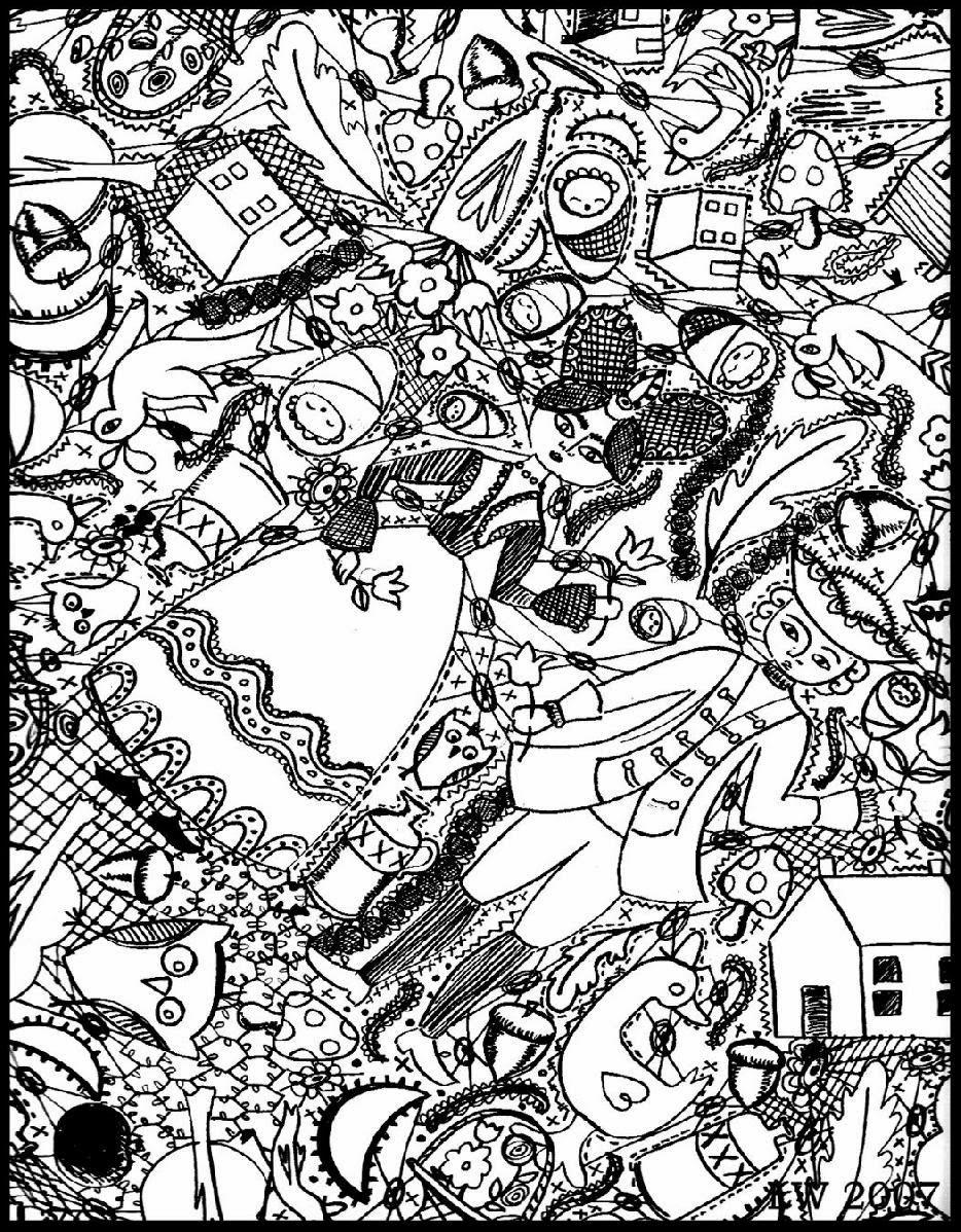 Doodle à colorier !