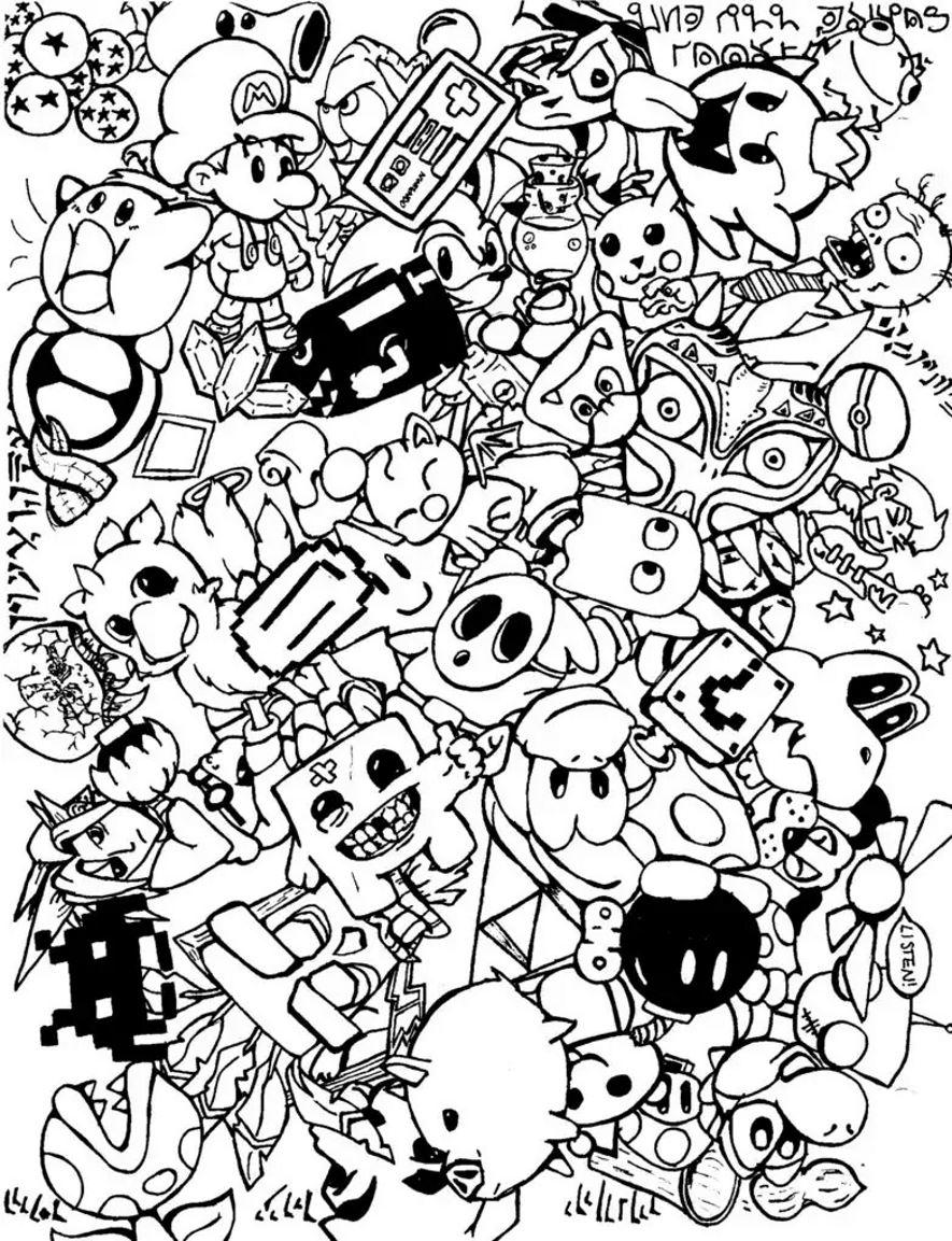 Complexe Doodle Doodling 8 Gratuit A Imprimer Coloriage Adulte