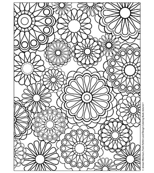 Fleurs coloriage adulte coloriages pour enfants - Coloriage mandala printemps ...