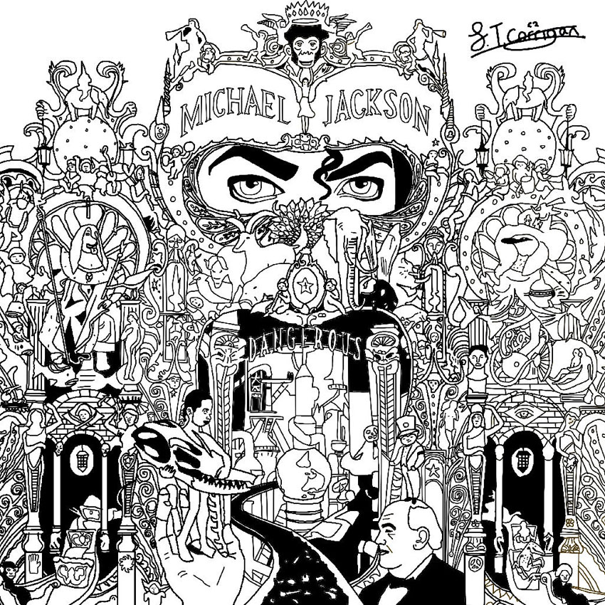 Michael jackson dangerous coloriage adulte coloriages - Album coloriage adulte ...