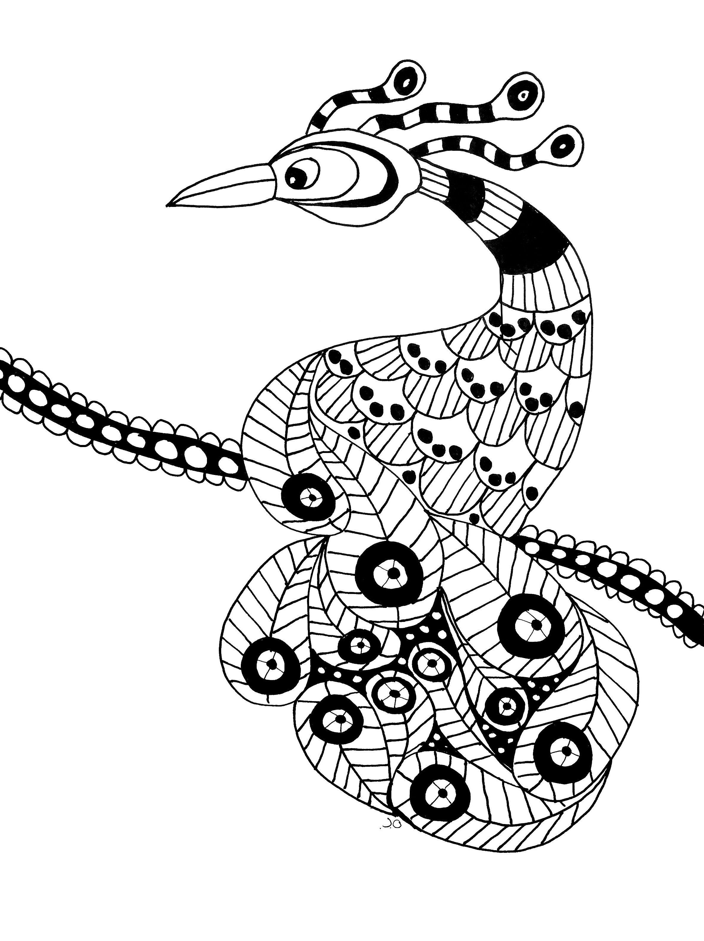 Oiseau Extraordinaire Gratuit A Imprimer Coloriage Adulte