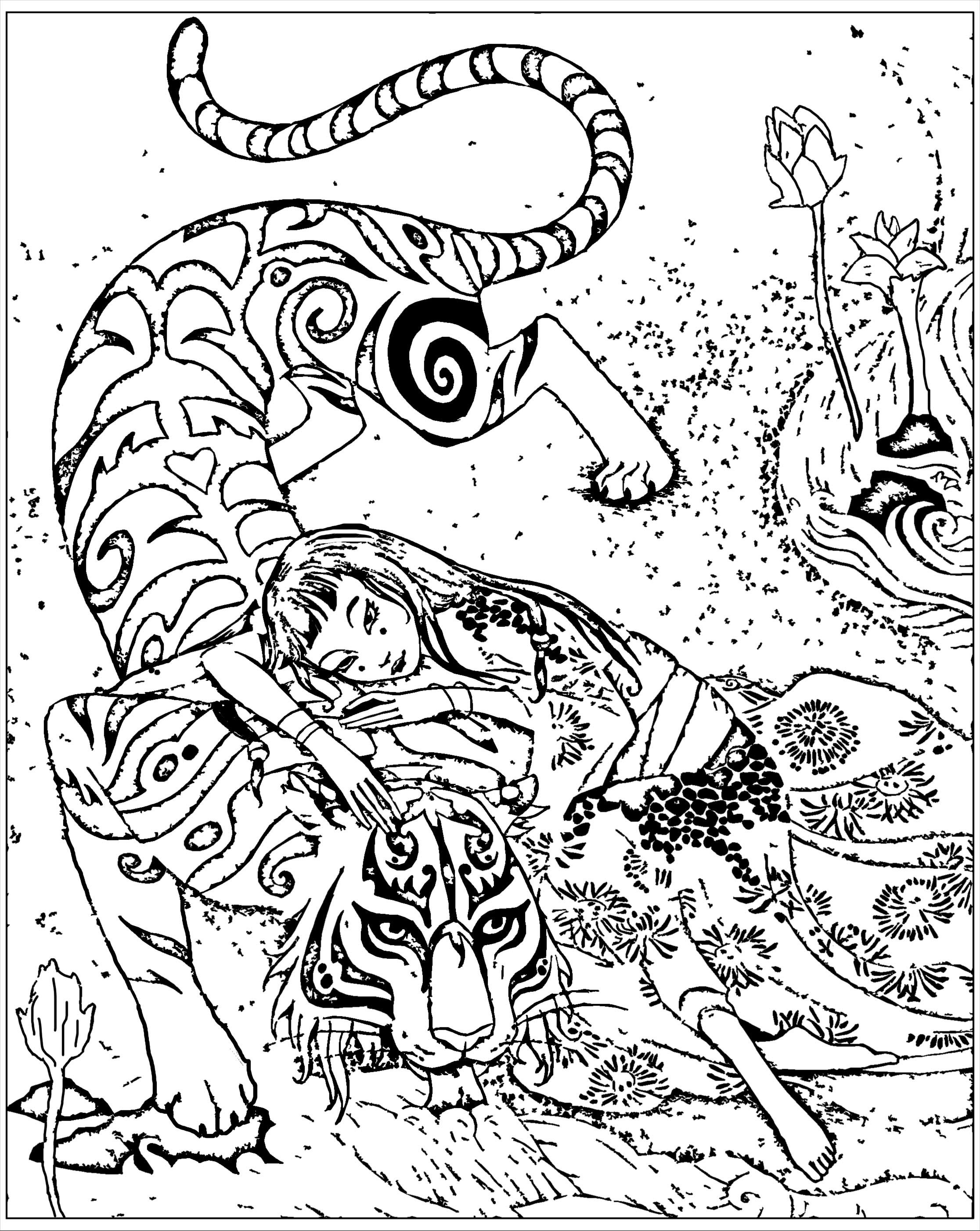 Super Pour adulte difficile chine inspire livre tigre le devoue de  HX36