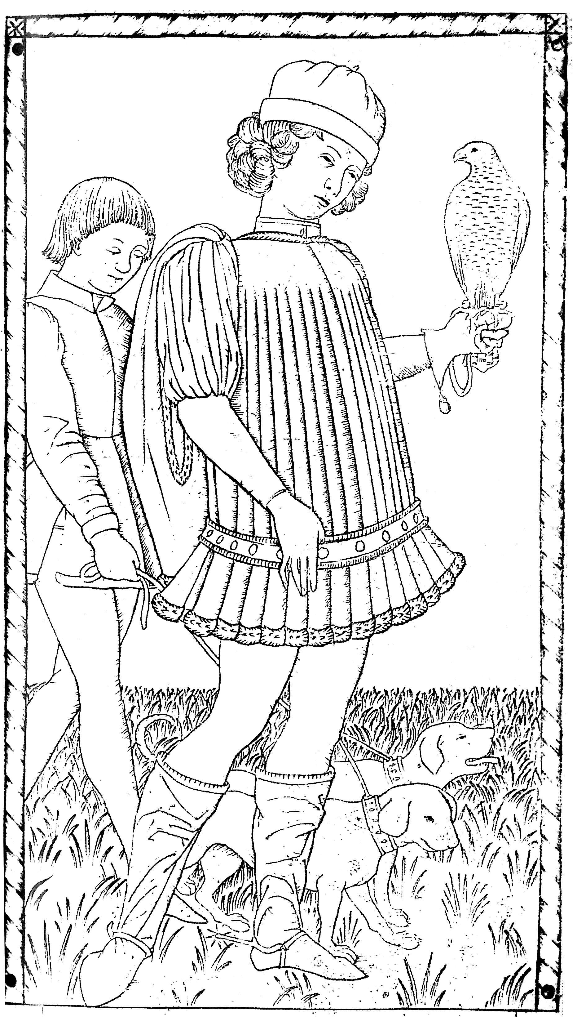 Pour gravure anonyme gentilhomme vers 1465 gratuit a imprimer