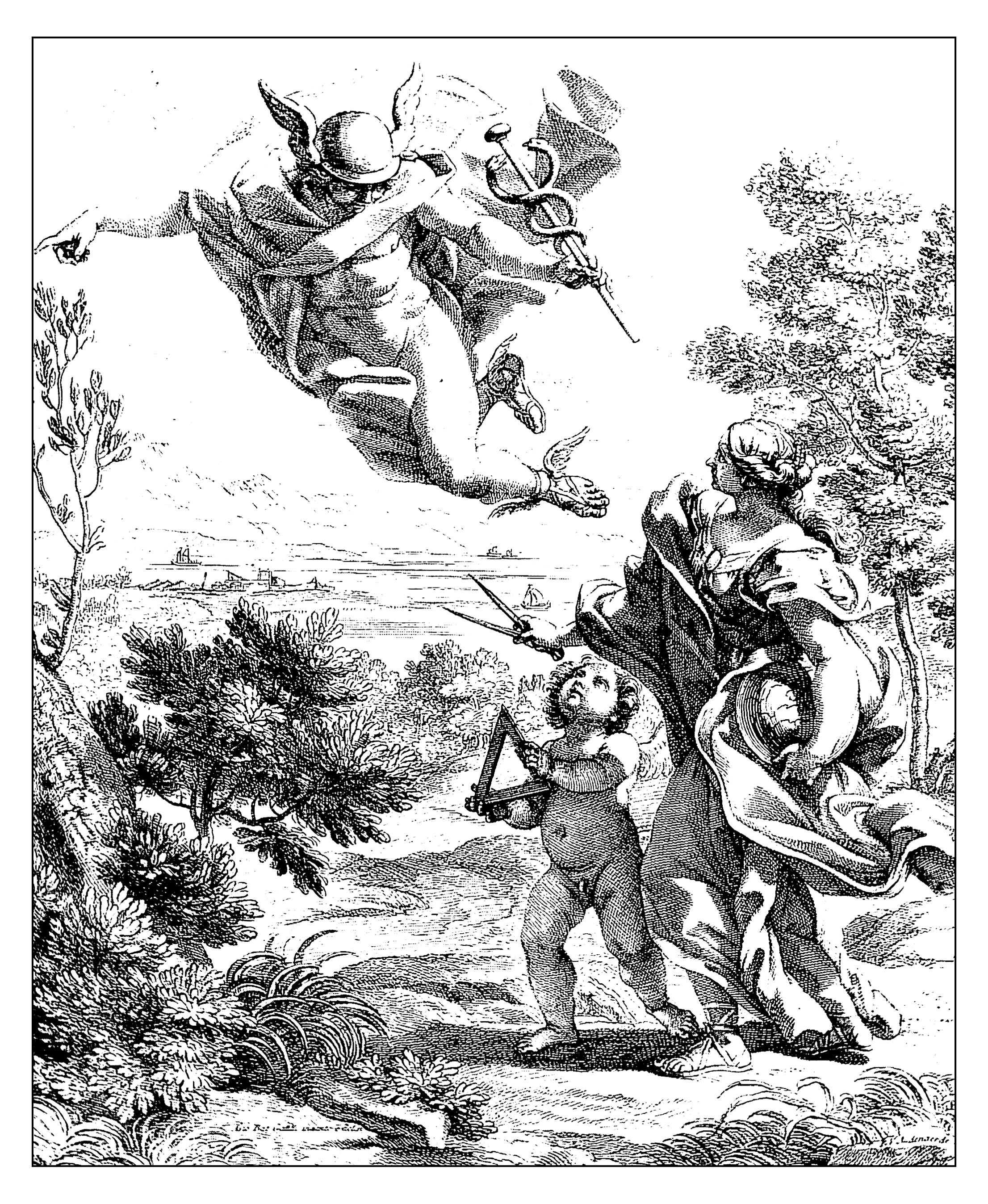 Pour gravure giovan battista allegorie de la geographie 1692 gratuit a imprimer