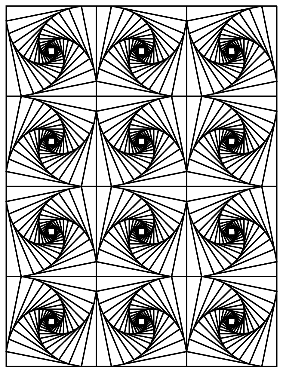 Op art illusion optique 3 coloriage adulte coloriages pour enfants - Mini coloriage illusion d optique ...