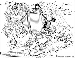 Coloriage bateau difficile 1