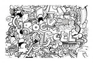 Coloriage complexe adulte doodle doodling 11 gratuit a imprimer