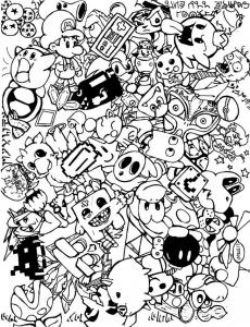 Coloriage complexe adulte doodle doodling 8 gratuit a imprimer