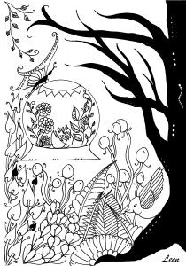 Coloriage l arrivee du printemps coloriage adulte par leen margot