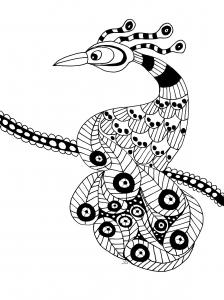 Coloriage oiseau extraordinaire gratuit a imprimer