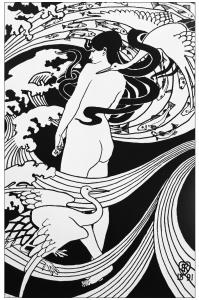 Coloriage pour adulte difficile art nouveau dessin natura naturans 1891 par robert burns gratuit a imprimer