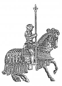 Coloriage pour adulte difficile chevalier moyen age gratuit a imprimer