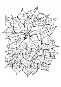 Coloriage pour adulte difficile feuilles simples gratuit a imprimer