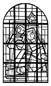 Coloriage pour adulte difficile vitrail de la nef eglise immaculee conception mangombroux verviers france gratuit a imprimer