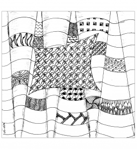 Coloriage zentangle a colorier par cathym 1