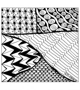Coloriage zentangle a colorier par cathym 22