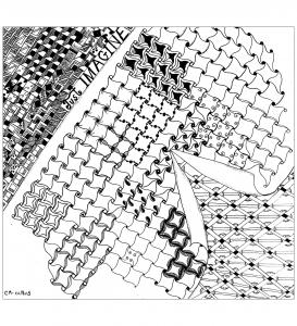 Coloriage zentangle a colorier par cathym 23