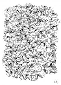 Coloriage zentangle a colorier par cathym 24
