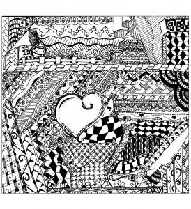 Coloriage zentangle a colorier par cathym 31