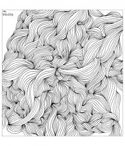 Coloriage zentangle a colorier par cathym 33