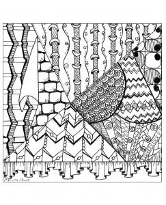 Coloriage zentangle a colorier par cathym 40