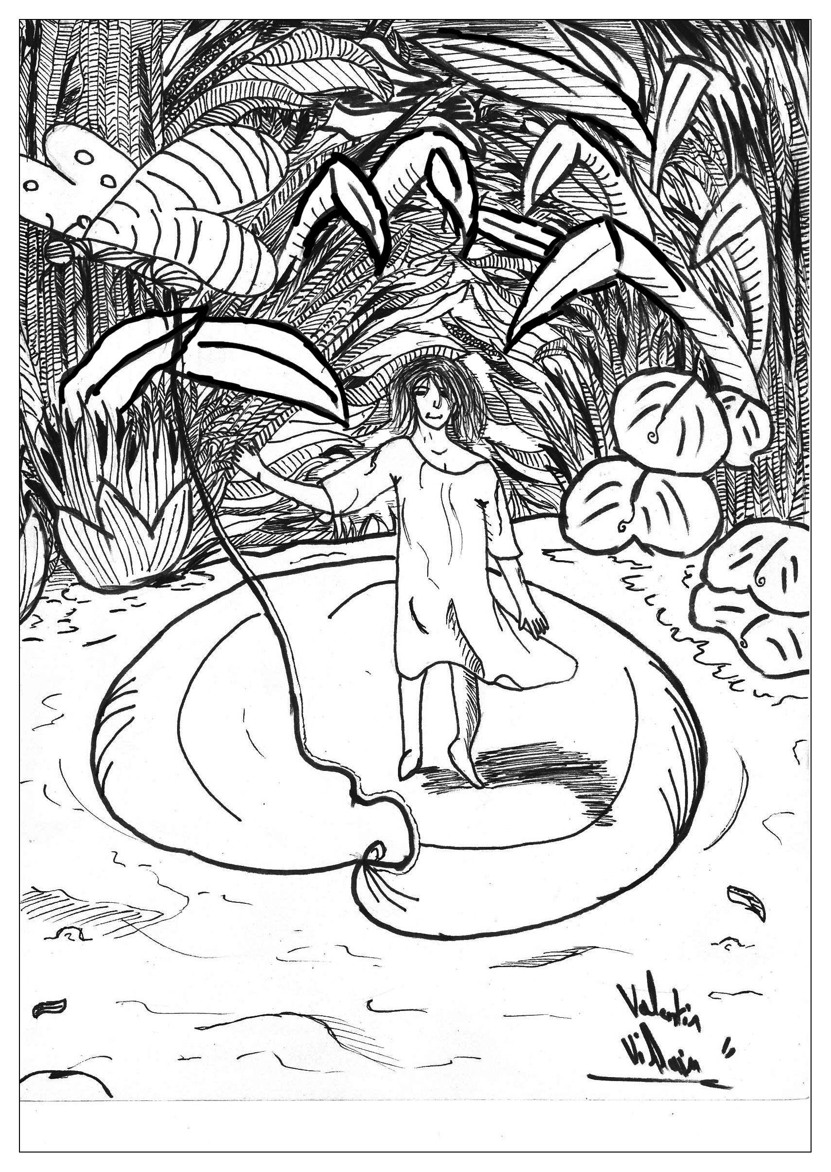 Interprétation originale du conte 'Petite Poucette', par Valentin