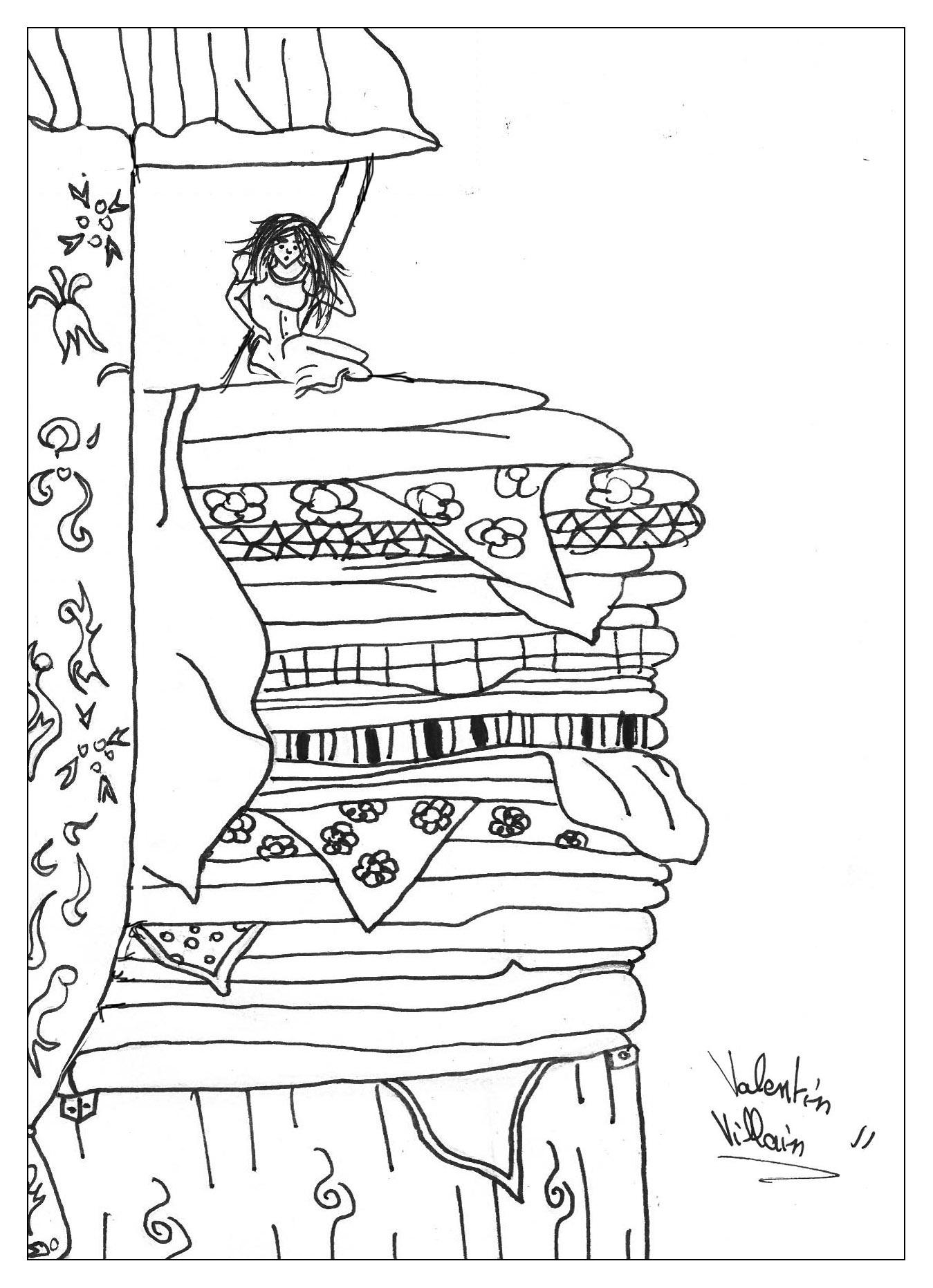Interprétation originale du conte 'La Princesse au petit pois', par Valentin