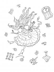 coloriage-alice-pays-merveilles-par-olivier free to print