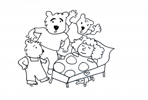 coloriage-boucle-d-or-trois-ours free to print