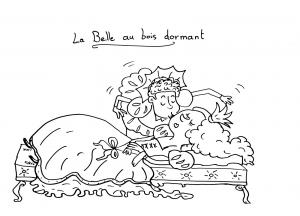 coloriage-la-belle-au-bois-dormant free to print