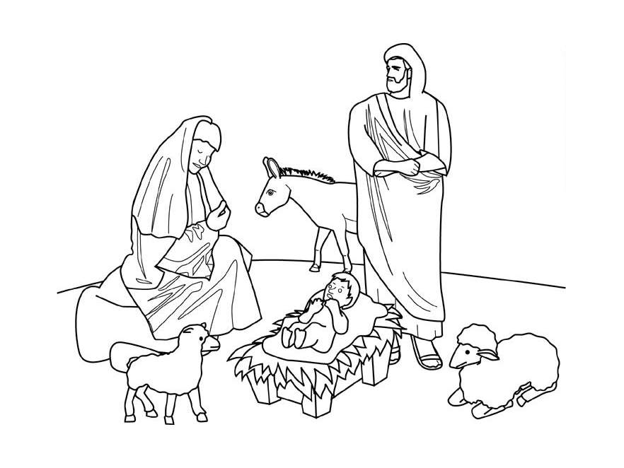 Creche nativite 10 coloriage de cr che no l nativit - Coloriage creche de noel ...
