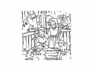 coloriage-creche-nativite-7 free to print