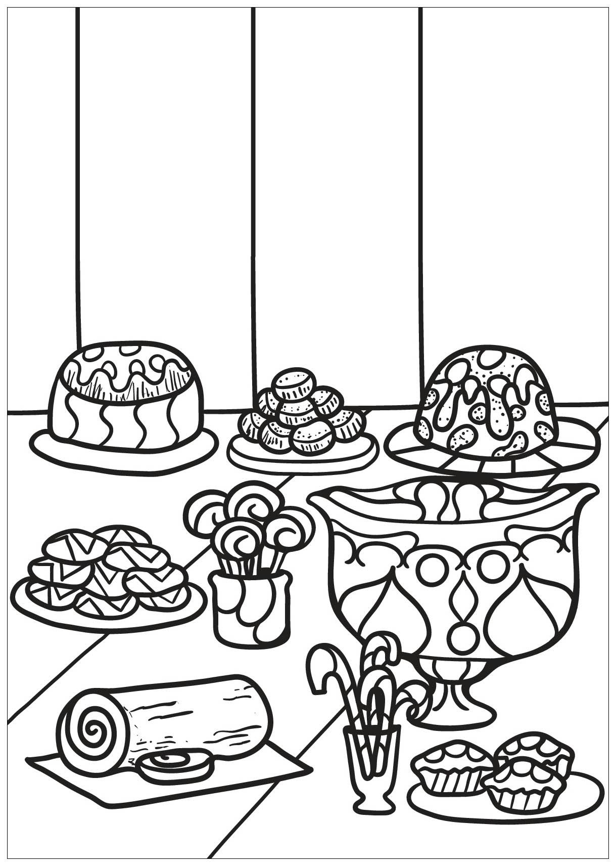 Cupcake 1 - Coloriage Cupcakes et gateaux - Coloriages ...