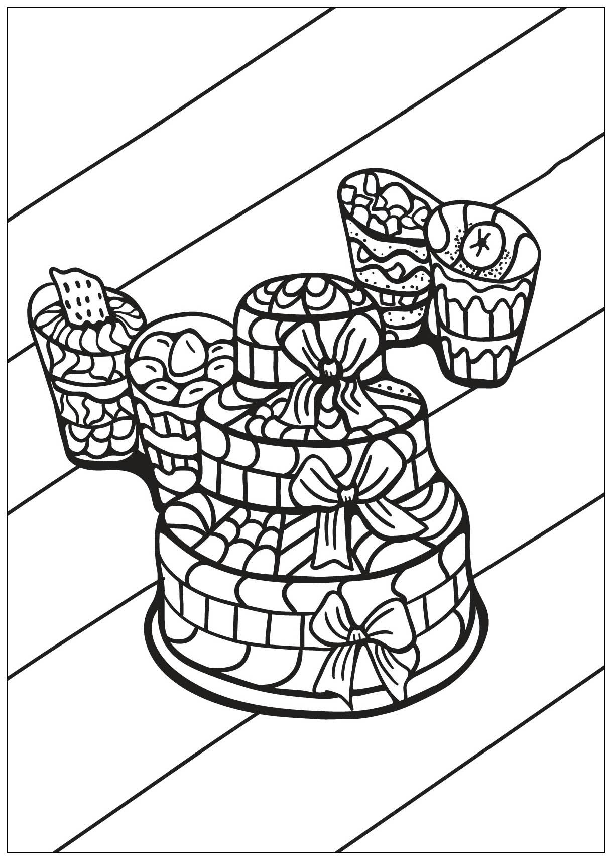Cupcake 12 - Coloriage Cupcakes et gateaux - Coloriages ...