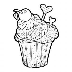 Joli cupcake à la cerise