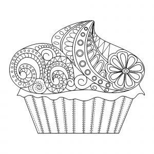 Cupcake Zentangle