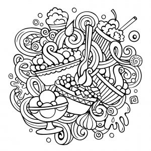 Doodle circulaire pâtisseries
