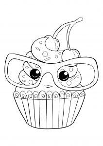 Cupcake à lunettes