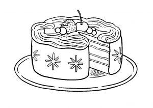 Gâteau simple à colorier